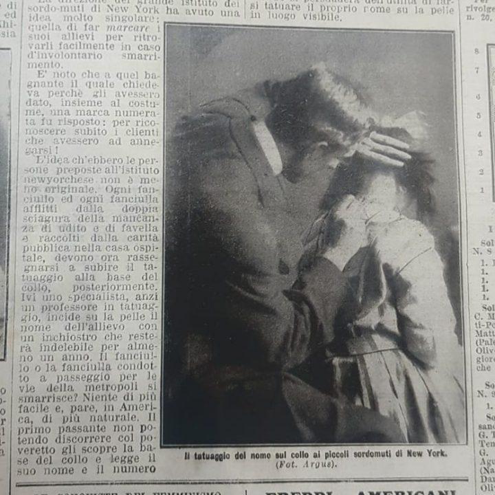 IL TATUAGGIO DEI SORDO-MUTI DI NEW YORK (1910)