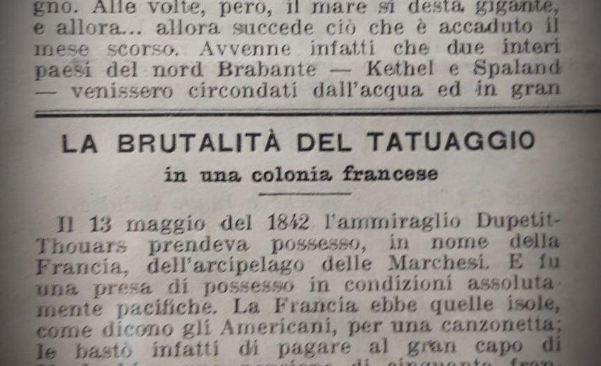 Il tatuaggio delle isole Marchesi nel 1800